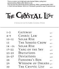 The Crystal List